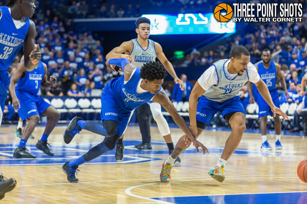 Kentucky treats crowd to a speed exhibition plus boxscore and game notes