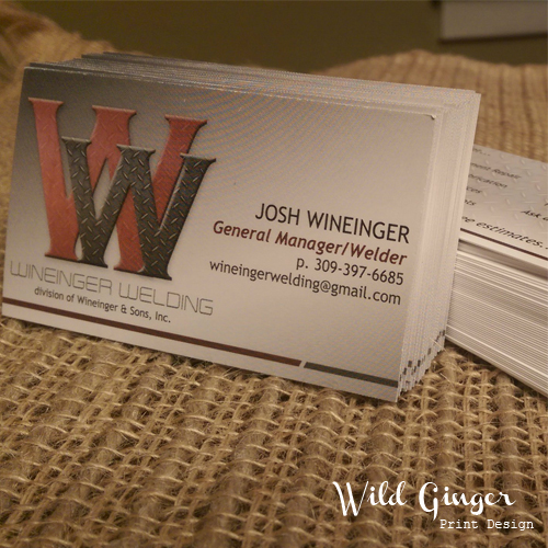 Business Cards Wineinger Welding