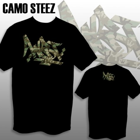 WST Camo Steez Tee mock up