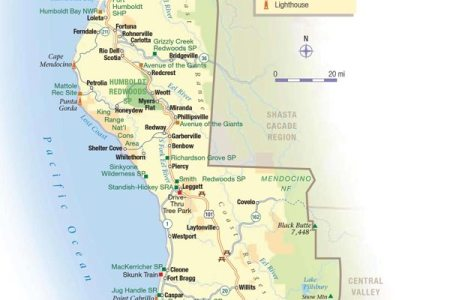 Map Of Northern California Coast - Map of northern california