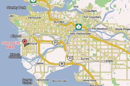 Map Of Vancouver Canada Area - Vancouver canada map