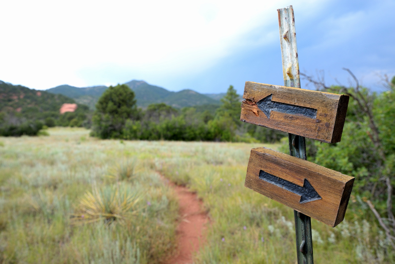 Which way do we go? The Nature Conservancy Colorado is trying to keep places like this (Aiken Canyon, near Colorado Springs) protected and available for future generations.