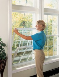 Most new double-hung windows tilt in for easy cleaning