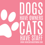 Dogs have Owners, Cats have Staff…