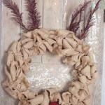 Reindeer Burlap Wreath Tutorial