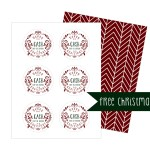 Free Christmas Gift Tag Template!