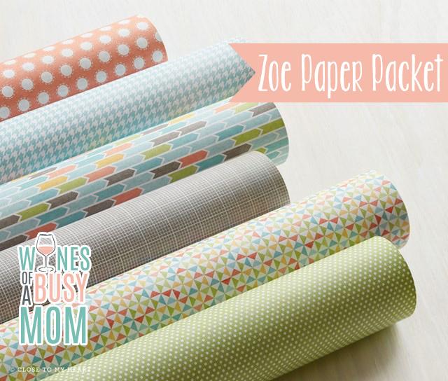 Zoe Scrapbooking Paper Preview!