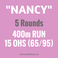 "That time I didn't cry during Crossfit ""Nancy"""