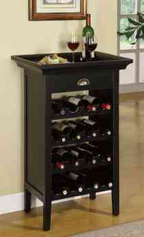 Powell Black With Merlot Rub Through Wine Cabinet