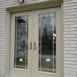 Double French doors with custom coloured prairie grills in Georgetown
