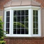 Bay windows with internal white grills