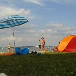 Strandleben am Fleesensee.