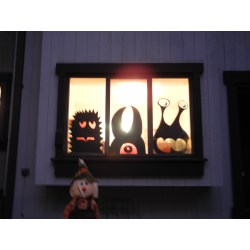 Small Crop Of Halloween Window Decorations