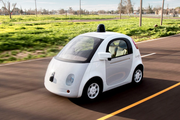 Google's self-driving car relies on a roof-mounted LIDAR sensor to see the world around it.