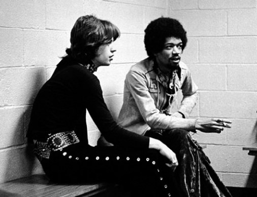 Jimi Hendrix y Mick Jagger