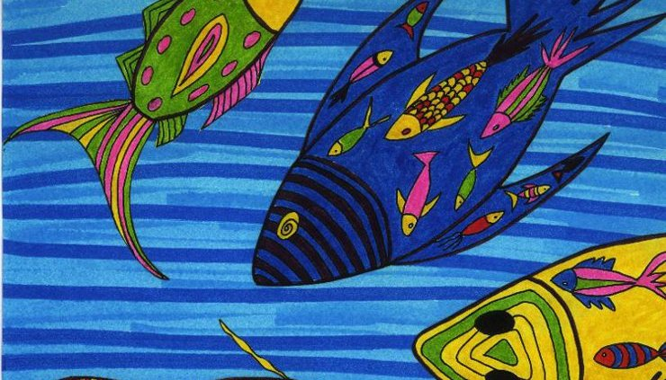 Una de las ilustraciones de Mamy Wata et le mostre. Todas las imágenes proceden de la página oficial de la autora.