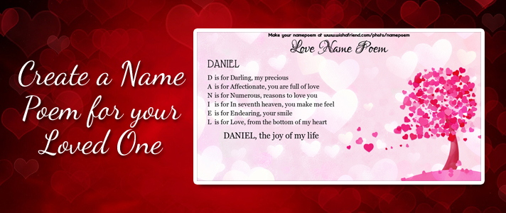 Love Name Poem  Make An Acrostic Name Poem for Your Love Make a cute name poem for your love