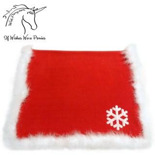 Wishpony Christmas Saddle Blanket