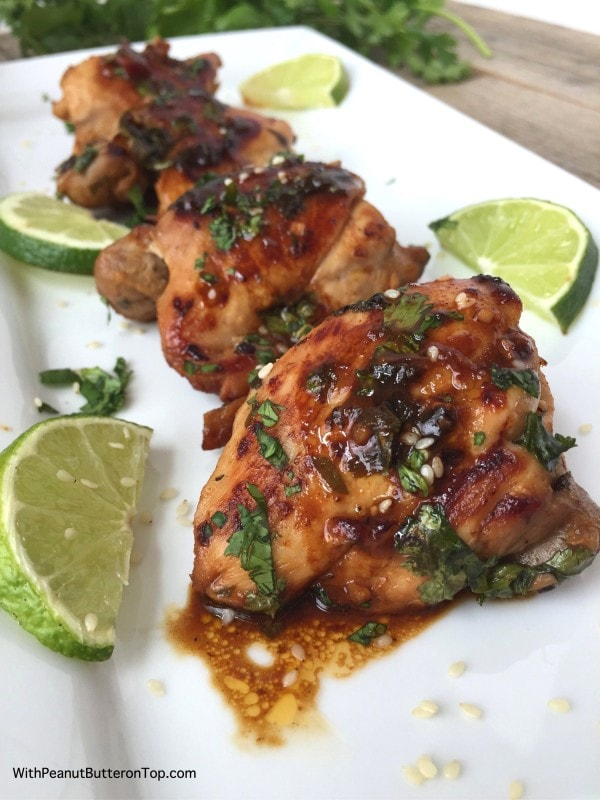 One Pan Cilantro Lime Chicken Thighs