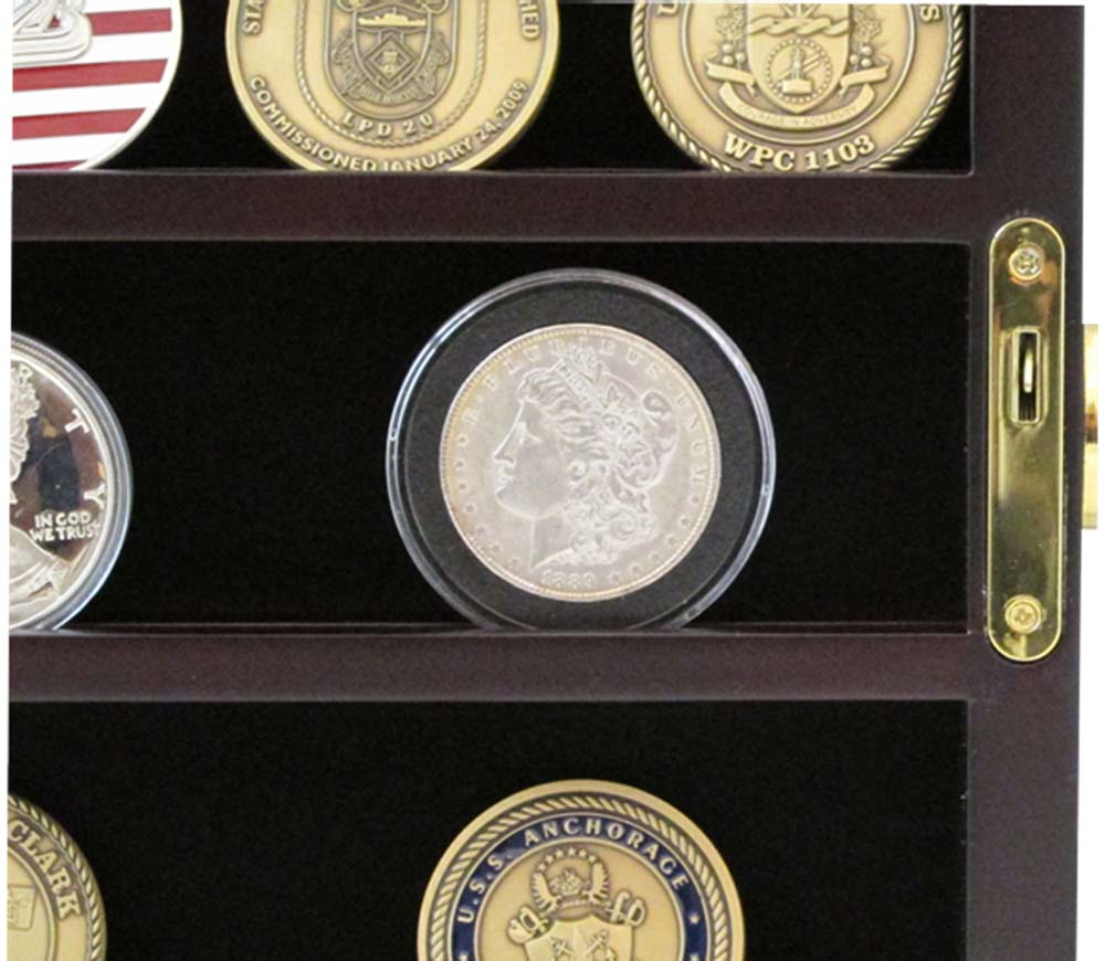 Comely Guardhouse Lockable Wall Mounted Coin Display Challenge Coin Display Case Diy Lockable Challenge Coin Display Case houzz-02 Challenge Coin Display Case