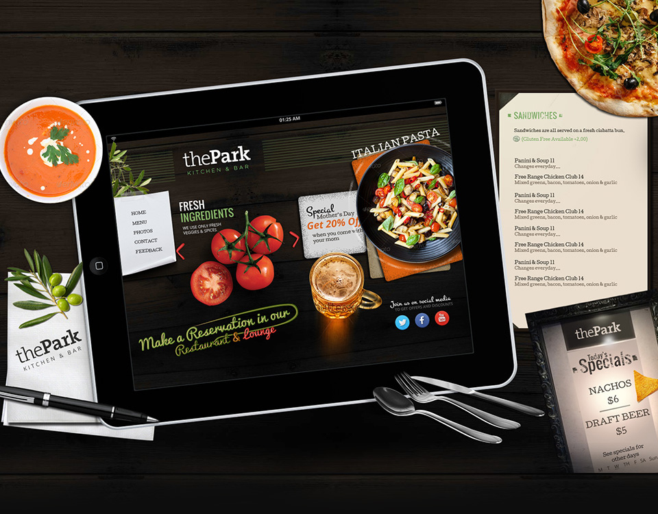 park-kitchen-website-design