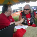 Mike McBride stopped by the WKVI tent to talk about activities during the event
