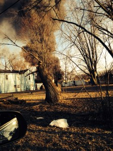 Fire crews are battling a fire at Toto Road and U.S. 35