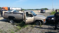 Gary Chavez is accused of stealing this 1988 GMC Sierra pickup truck from two men in Hebron Friday afternoon.