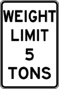 Weight limit five tons