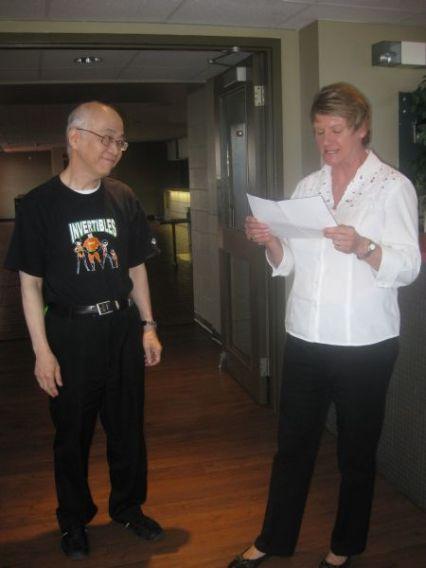 Retiree Edward Wang and Judy Bates