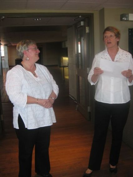 Retiree Joyce Lorimer and Judy Bates