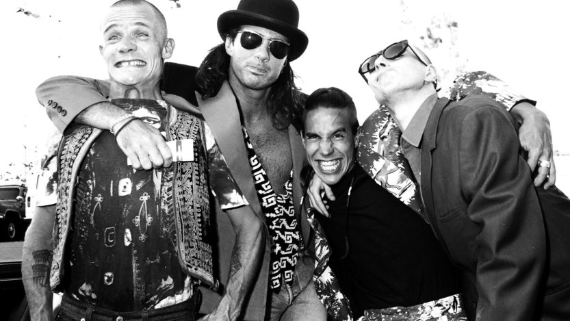 Flea, Chad Smith, Anthony Kiedis and John Frusciante of Red Hot Chili Peppers (Photo by Jeff Kravitz/FilmMagic)