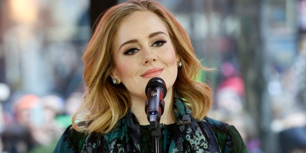 "TODAY -- Pictured: Adele performs on the ""Today"" show on Wednesday, November 25, 2015 -- (Photo by: Heidi Gutman/NBC/NBC NewsWire via Getty Images)"