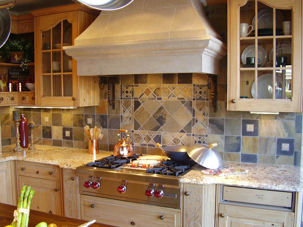 kitchen tile backsplashes in kitchens Custom Cut Slate Mosaic Tile st louis kitchen tile Backsplash Backsplash 3