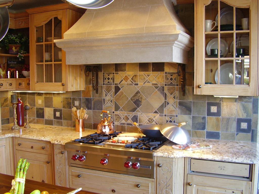 kitchen tile backsplash for kitchens Custom Cut Slate Mosaic Tile st louis kitchen tile Backsplash Backsplash 3