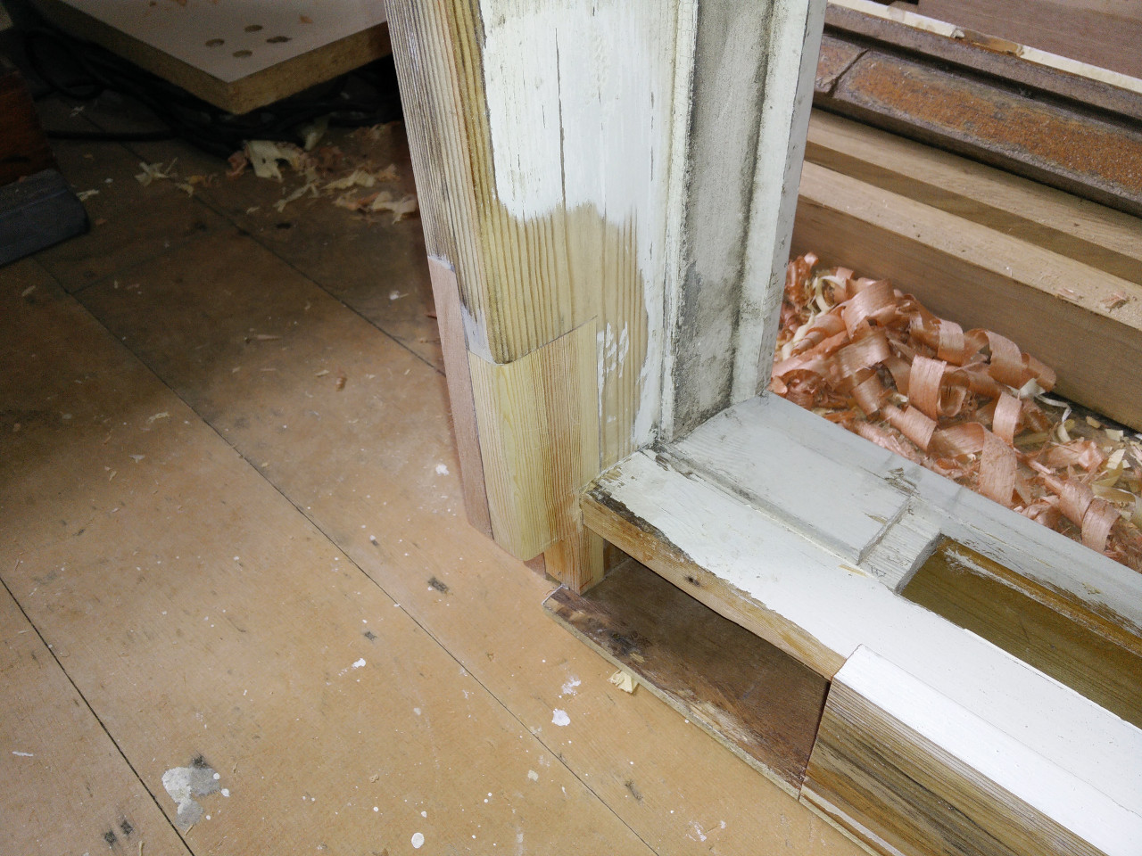 Repairing a window sill part 5 wobblycogs workshop for Window sill replacement