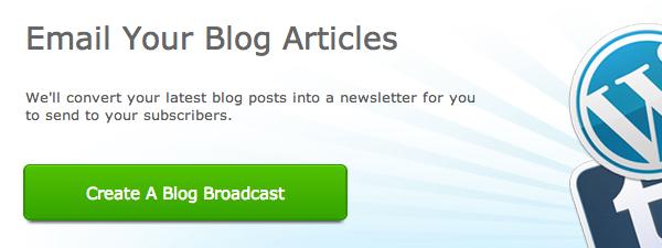 Create a Blog Broadcast step 02