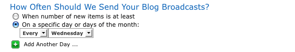 Create a Blog Broadcast step 05 2 specific day