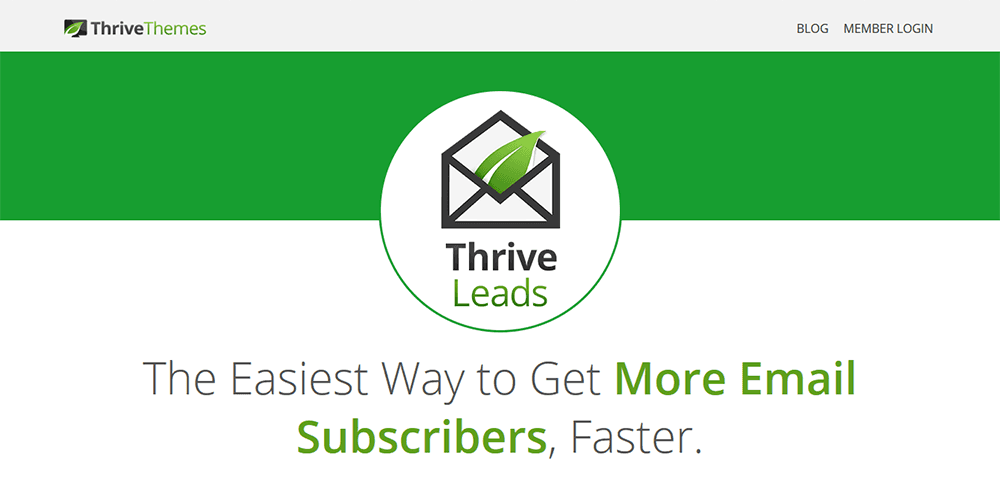 ThriveLeads Top Effective Email Subscription Plugins