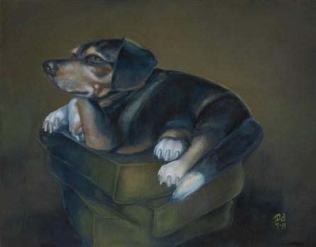 "FRANKIE | 2011 | oil on canvas, 16"" x 14"""