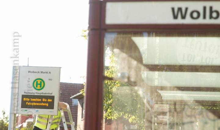Bushaltestelle in Wolbeck.