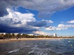 Вид с пристани на пляж, Салоу