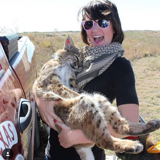 Jessie Story with Bobcat