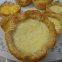 Egg Tarts and Cheese Tarts in Puff Pastry Crust
