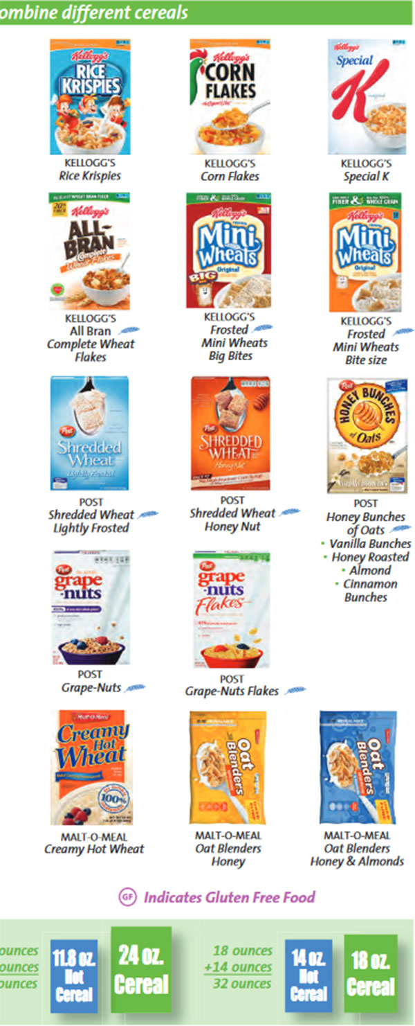 Large Of Gluten Free Cereal List
