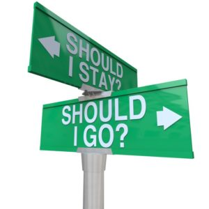 Should I Stay or Go Two Way Road Signs Make Decision