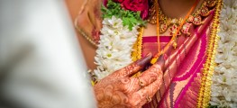 Indian bride with a mangalsutra