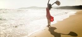 woman near the ocean