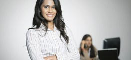 confident Indian woman at work
