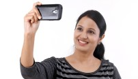 woman taking a selfie
